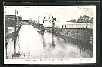 old postcard: AK Hochwasser, Choisy-Le-Roy, Entree de la Gare, Januar 1910