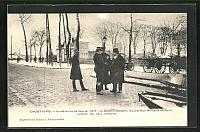 old postcard: AK Hochwasser, Choisy-le-Roi, Inondations de 1910, Le General Dalstein, Gouverneur Militaire de Paris