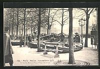 old postcard: AK Hochwasser, Inondations, Paris, Venise, Arrivee des Marins a Paris, Montage des you-you