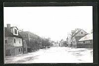 old postcard: AK Hochwasser Nürnberg am 05. Februar 1909, an der Insel Schütt