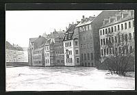 old postcard: AK Hochwasser Nürnberg am 05. Februar 1909, Zwischen Karls- und Fleischbrücke