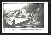 old postcard: AK Berlin, Hochwasser, Eingestürztes Haus Gerichtsstraße 23