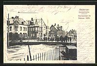old postcard: AK Kreiensen, Hochwasser im Februar 1909, Gandebrücke