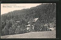 old postcard: AK Ballon d'Alsace, hôtel du saut de la truite