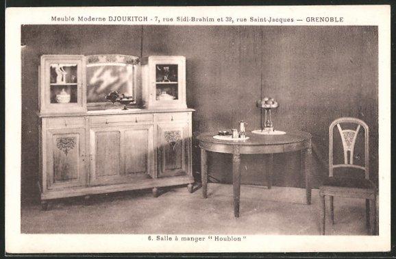 AK Grenoble, Meuble moderne Djoukitch, Salle à manger \