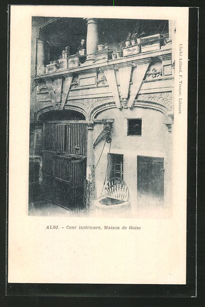 AK Albi, Cour intérieure, Maison de Guise