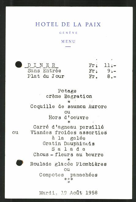 Hotel De La Paix Genf